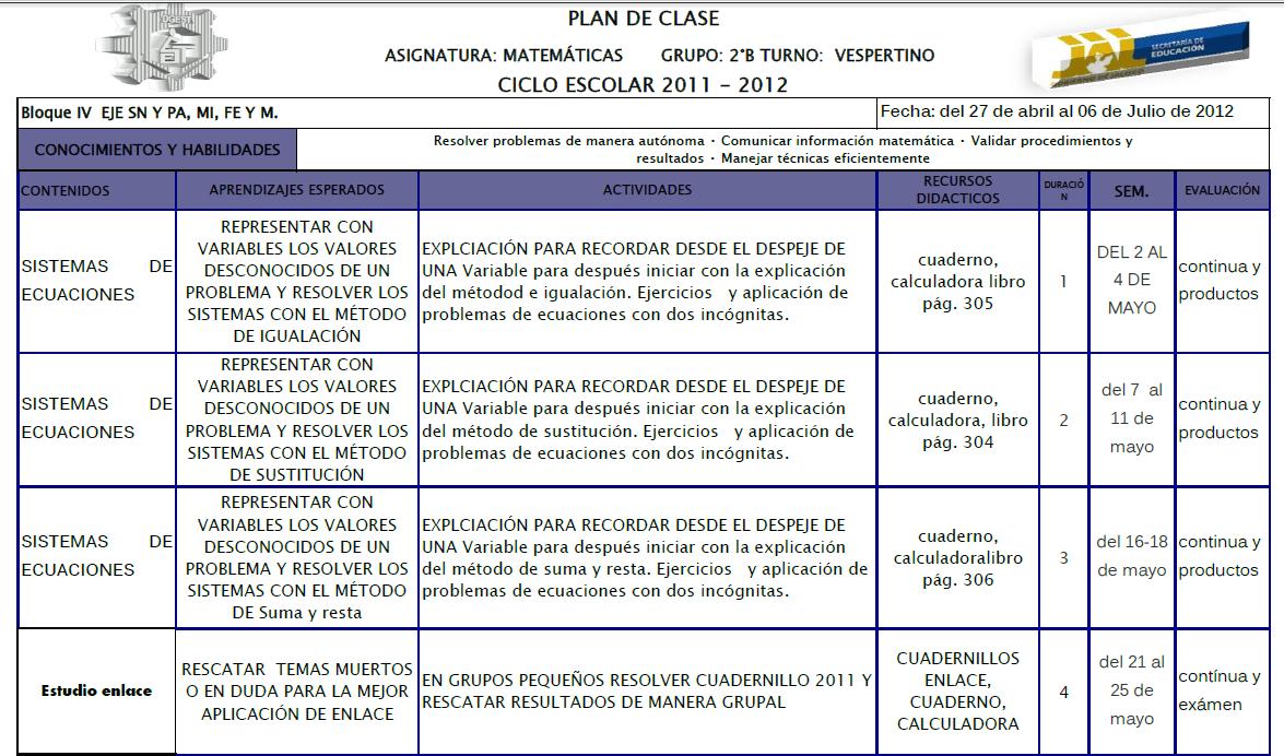 LAS MATEMÁTICAS EN LA ESC SEC TEC 155