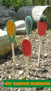 kids garden activities, garden markers