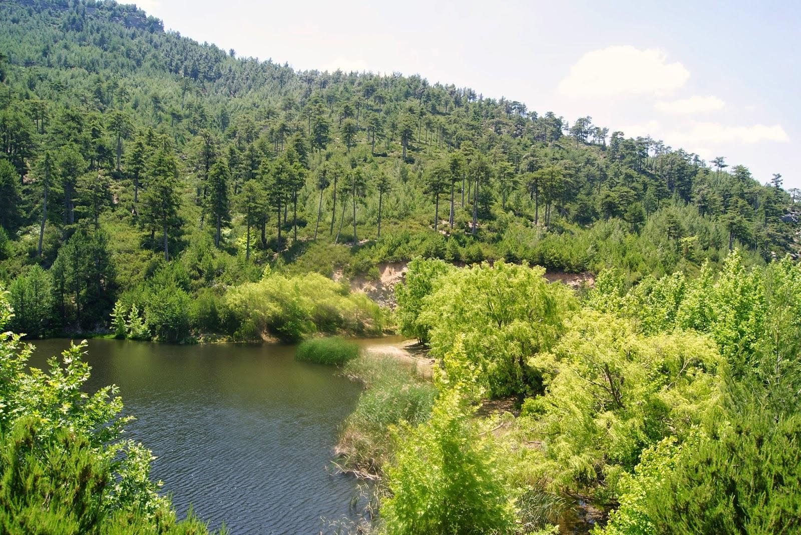 Jezioro w Maries, wyspa Thassos