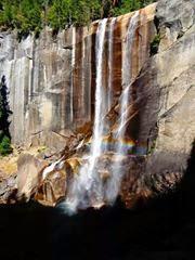 rainbow, waterfall