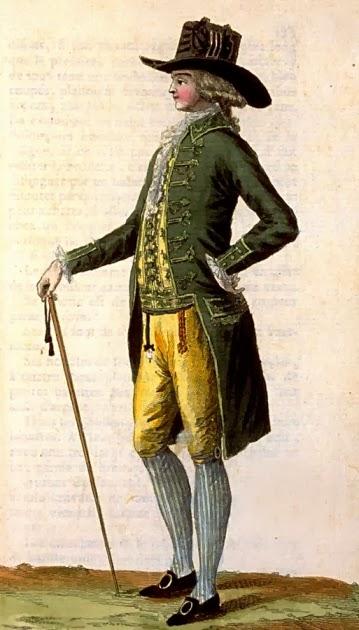 .História da Moda.: A Moda Masculina de 1770 a 1789