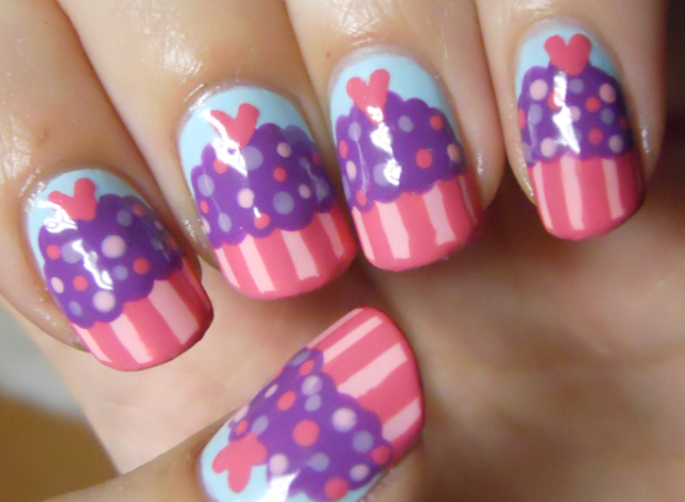holy manicures cute cupcake nails