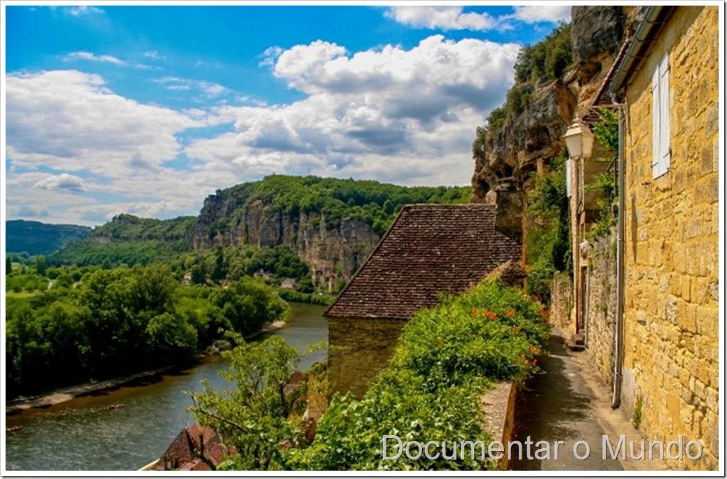 La Roque-Gageac;  aldeias mais bonitas de França