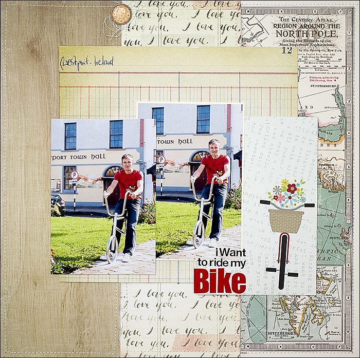 Bike - Scrapbooking, Layout