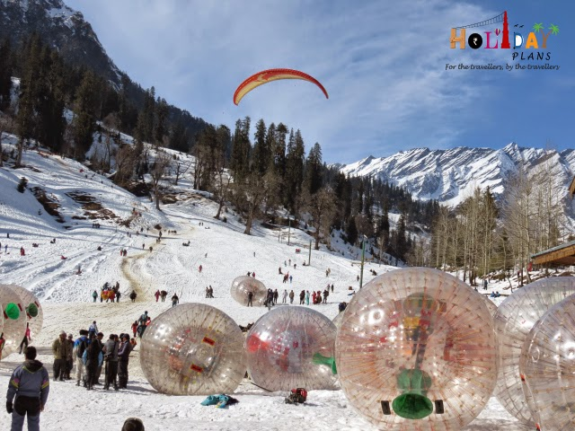 Paragliding and Jorbing at Solang Valley