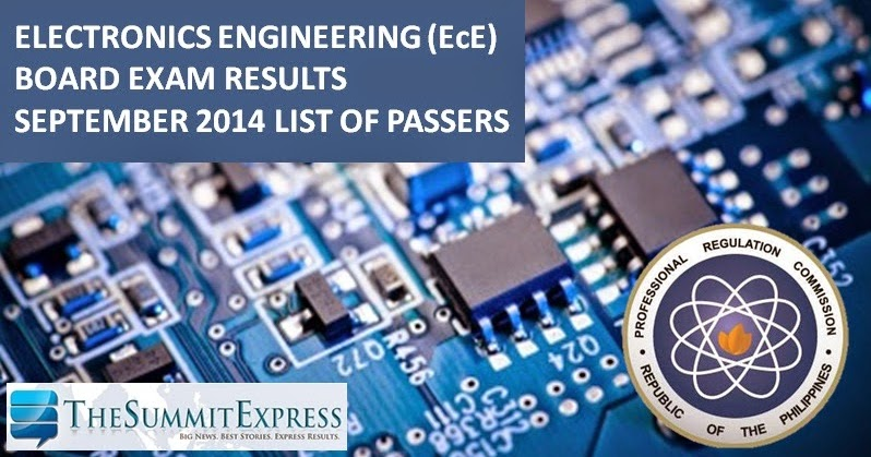 list  passers ece ect board exam results september  release  summit express