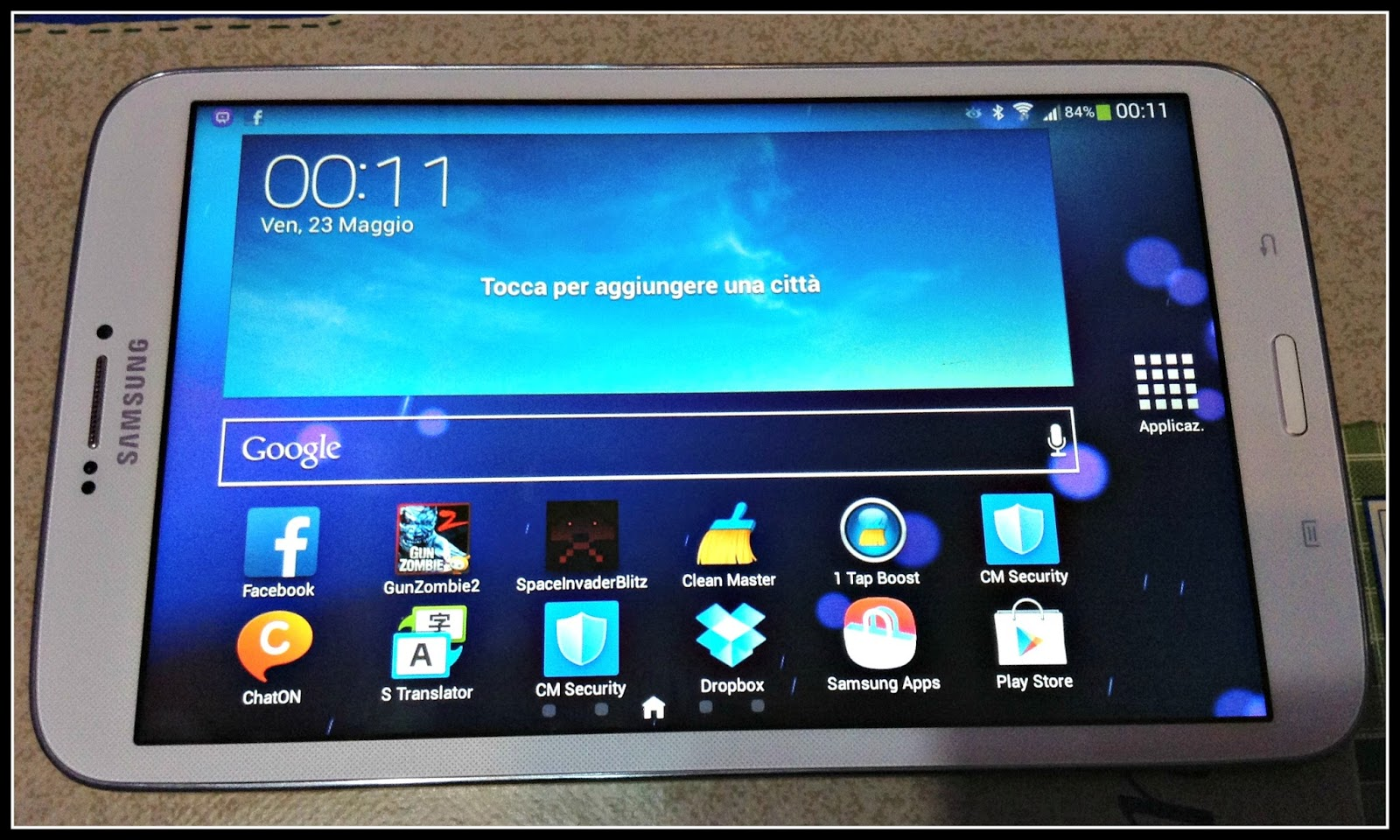 recensione di alcuni programmi del samsung galaxy tablet 3 8.0 redcoon.it