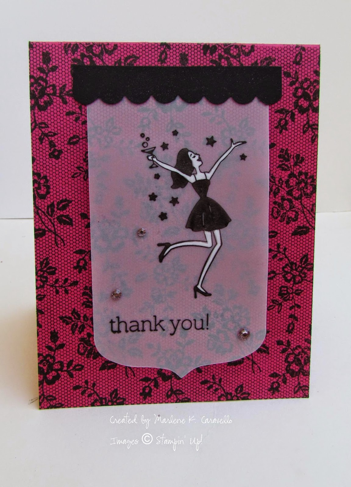 Michelle\'s Great Paper Chase: Girls\' Night Out Thank You Card by Marlene