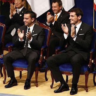Xavi Hernández e Iker Casillas Premio Príncipe de Asturias de los Deportes 2012