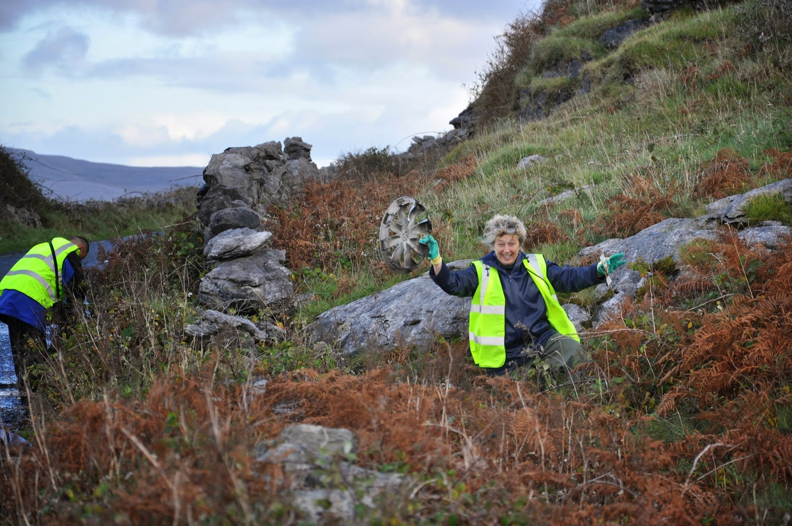 Burren businesses combat litter and invasive species