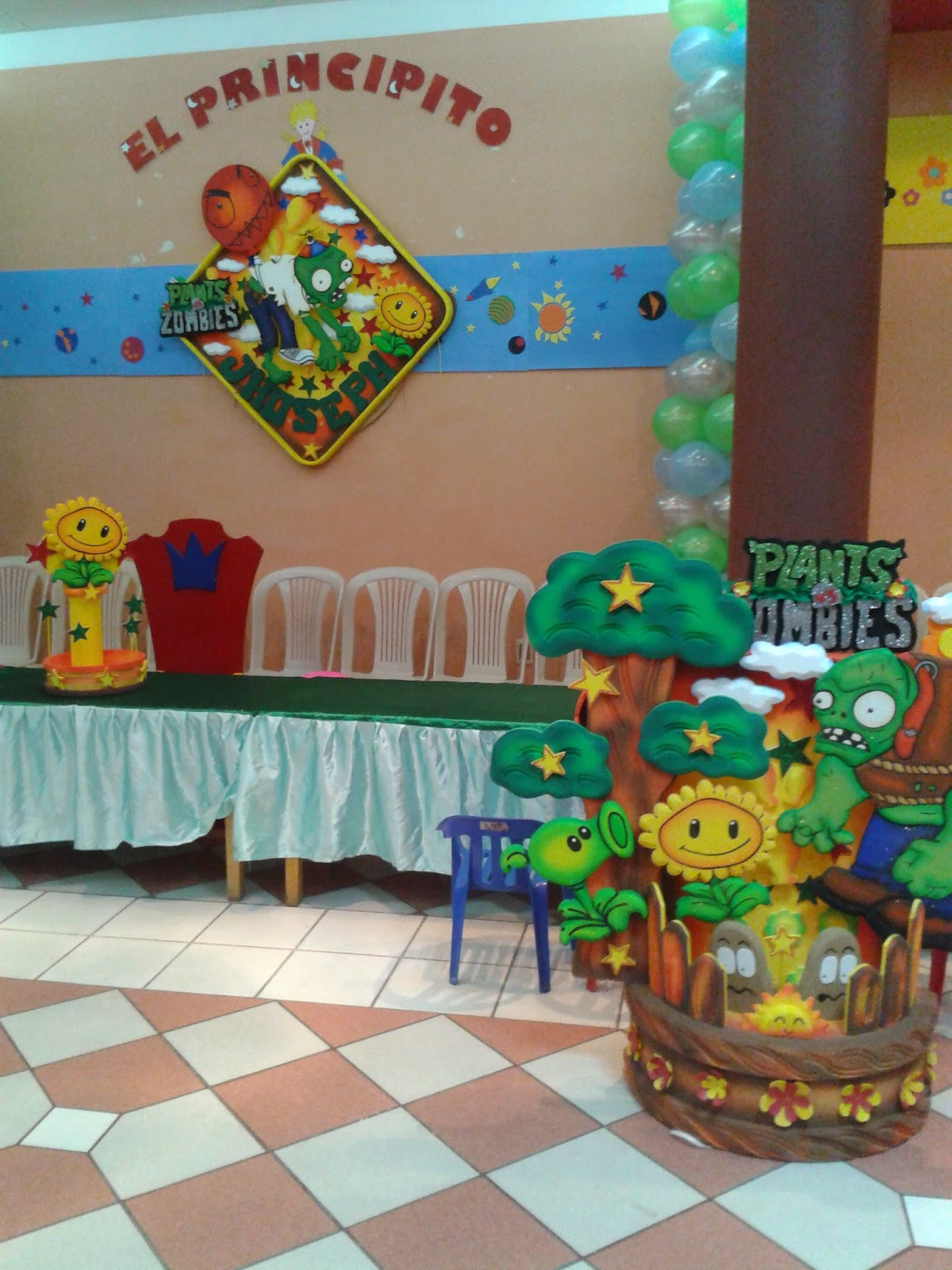 el principito decoracion plantas vs zombies