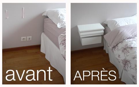 Pierre paris installer meuble ampm de la redoute for Table de nuit la redoute