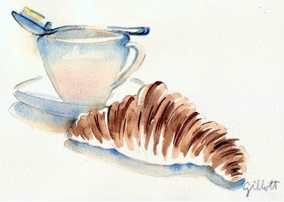 French Croissant by Carol Gillott