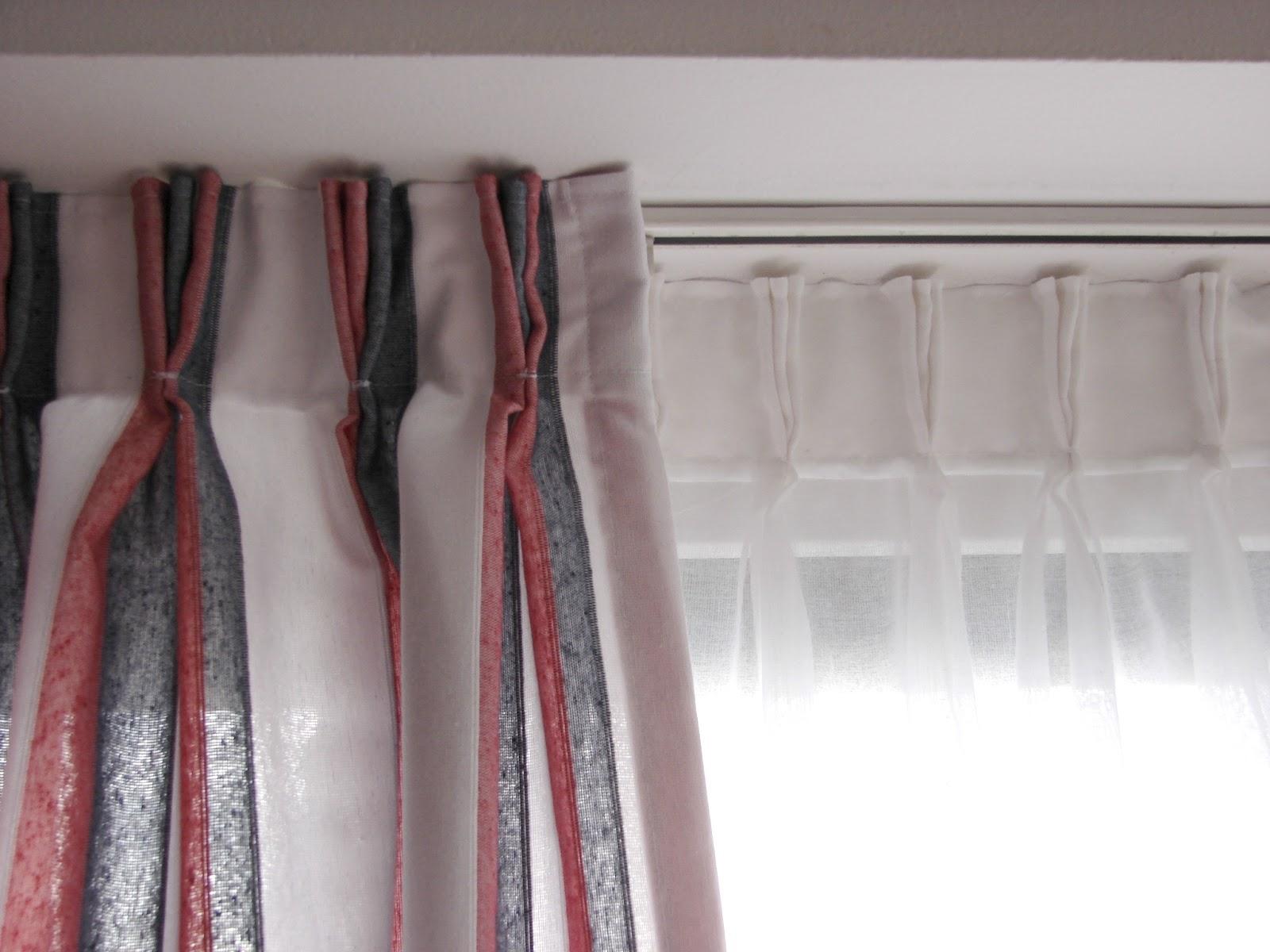 Mil y una rayas artesana for Cortinas grises y blancas