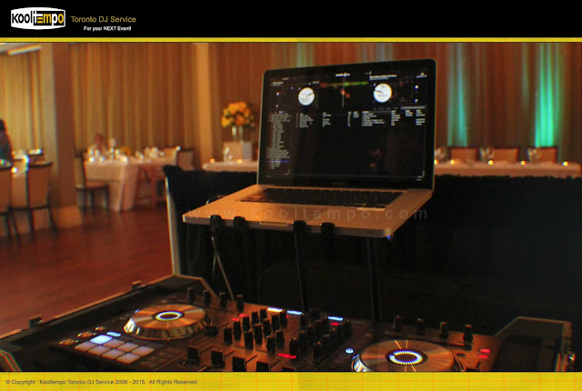 Rosewarter Room Toronto, Wedding DJ Set-up, Kooltempo Toronto DJ Services
