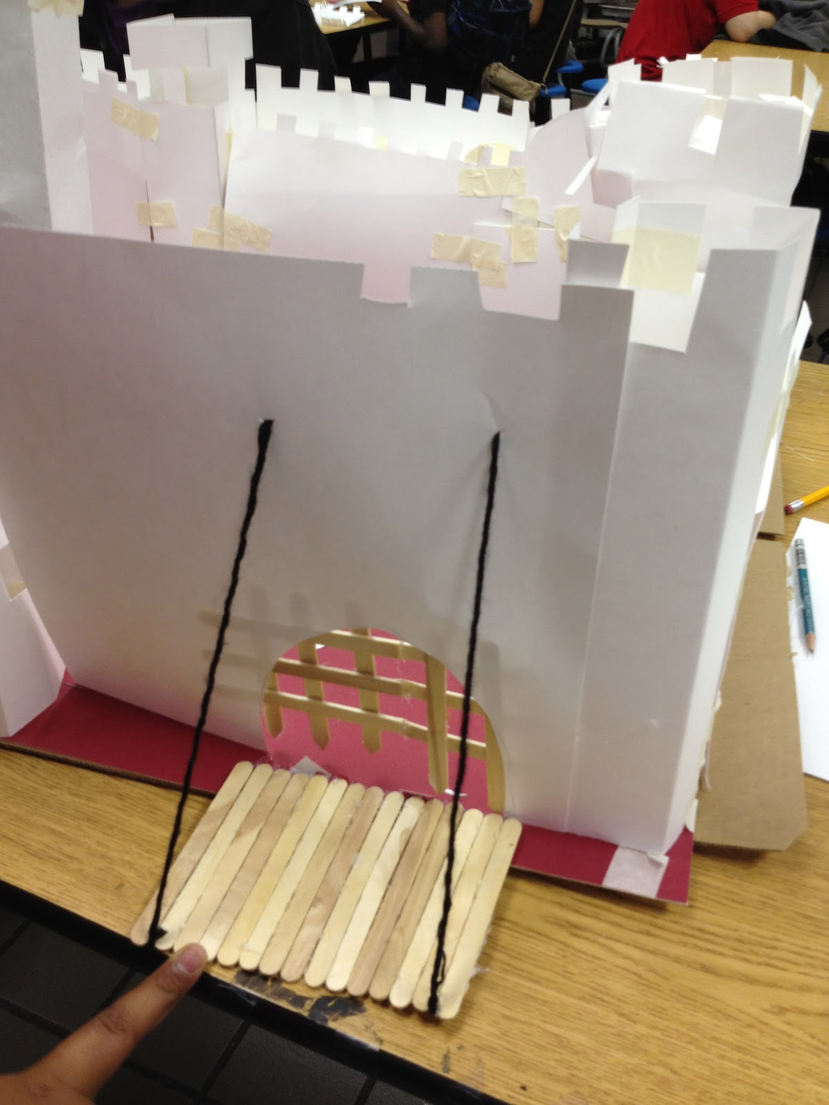 how to make a suspension bridge out of cardboard