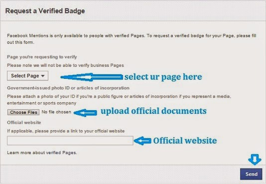 How to verify Facebook fan page or Profile - LetsHowTo.blogspot.com