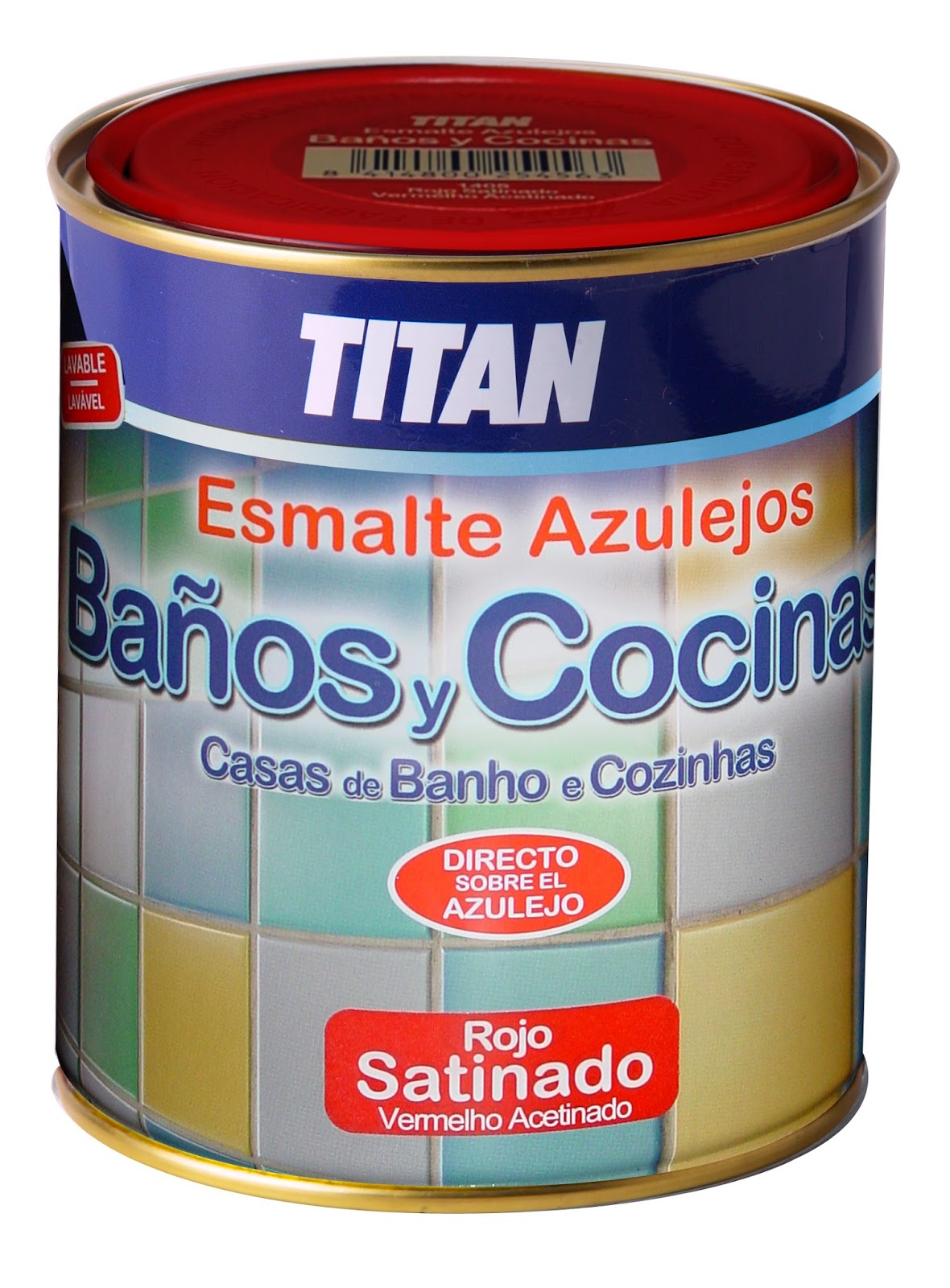 Pintura y decoraci n tit n ba os y cocinas esmalte para - Pinturas para azulejos bano ...
