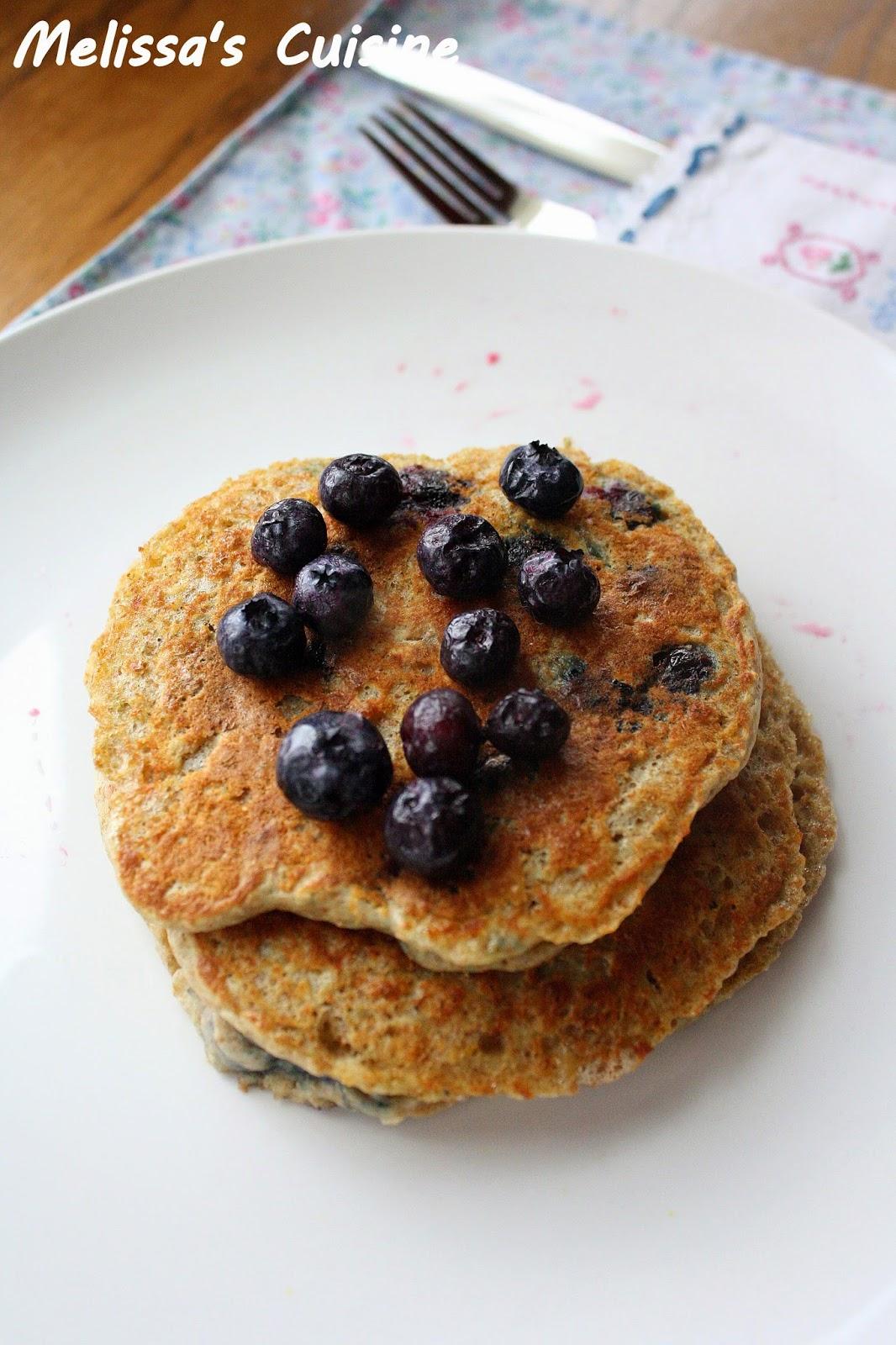 Melissa's Cuisine: Oatmeal Blueberry Pancakes