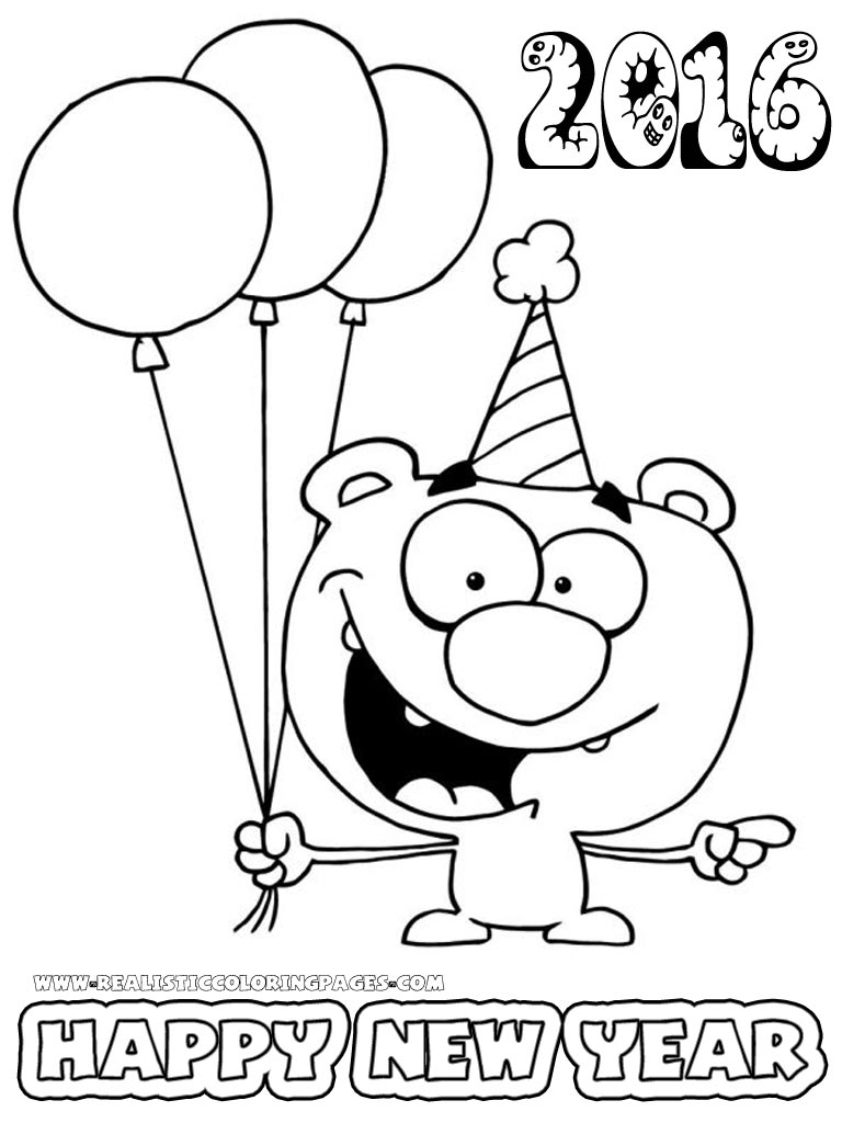 new year 2016 coloring pages for preschoolers realistic coloring