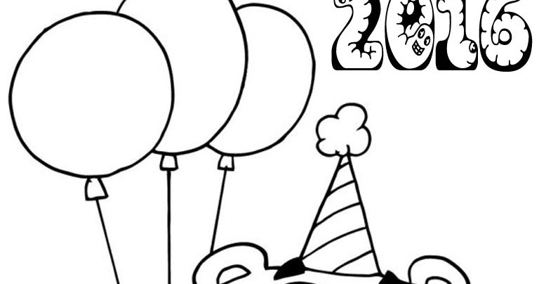 New Year 2016 Coloring Pages For Preschoolers Realistic New Year Coloring Pages For Preschool