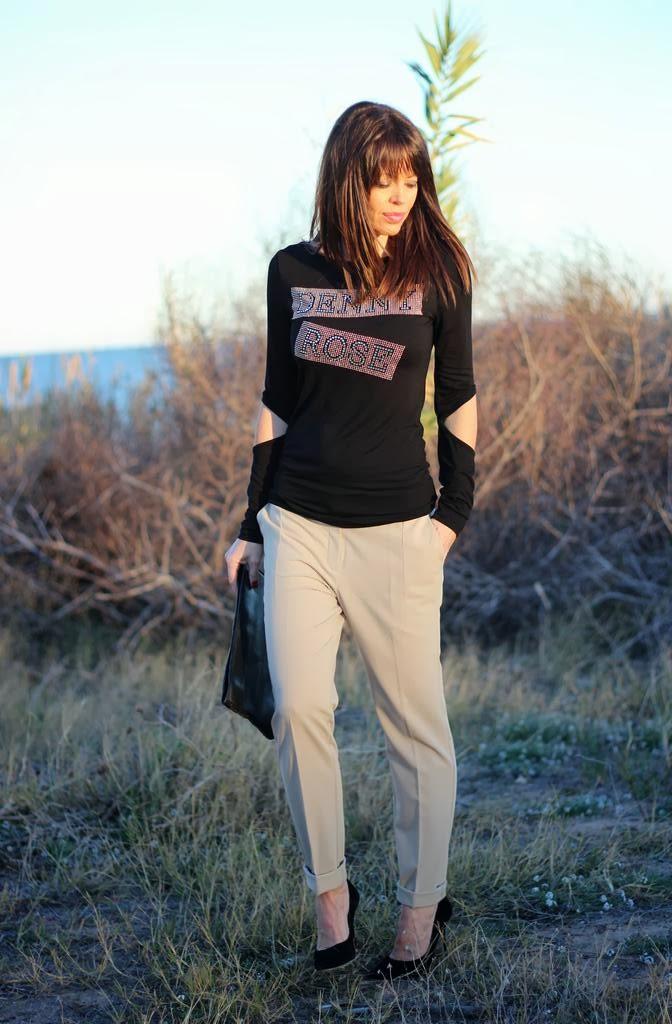 Pantalón Mango- Denny Rose T-shirt