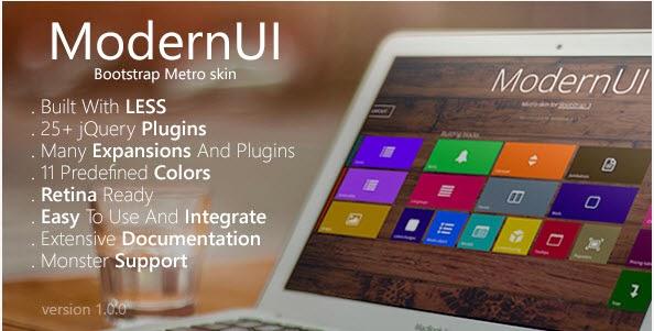 ModernUI - Bootstrap Metro Skin