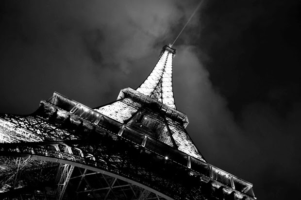 Eiffel Tower Black and White Photography