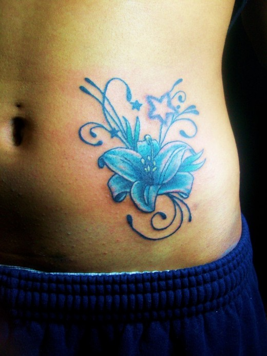 Flower Tattoos Lower Stomach Flower Stomach Tattoos