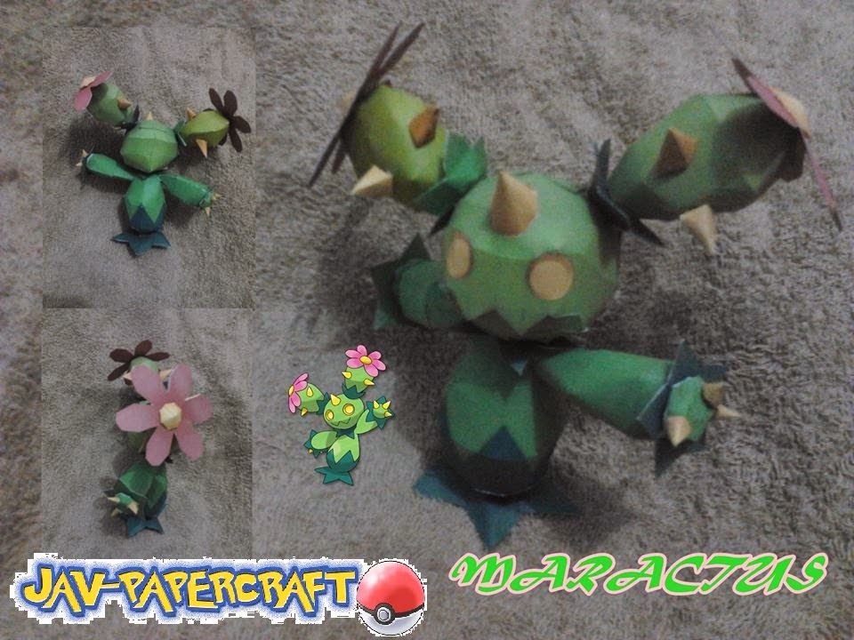 Pokemon Maractus Papercraft