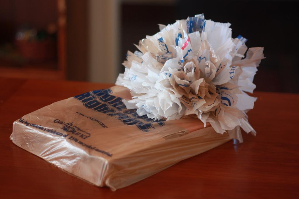 Giftwrap Challenge: Plastic Bags - Aunt Peaches