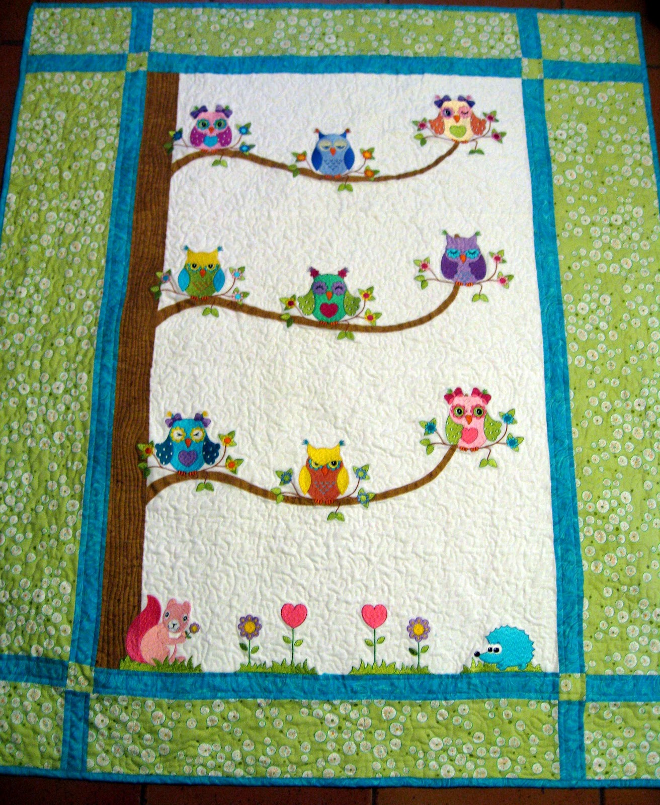 Free Quilt Pattern For Owls : Vicki s Fabric Creations: Free Pattern /Project Downloads