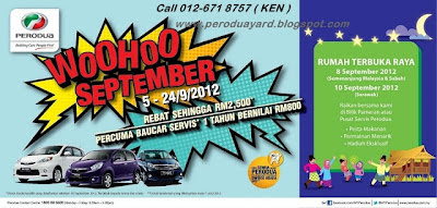 Perodua's RAYA OPEN HOUSE is held at all Perodua's showroom AND
