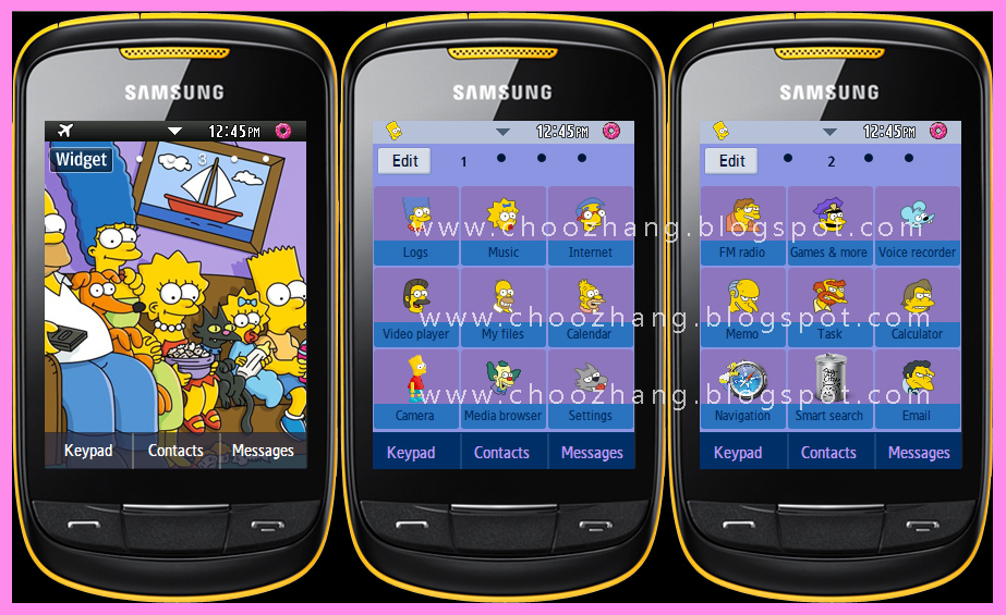 Samsung Corby 2 or S3850 - The Simpsons Themes