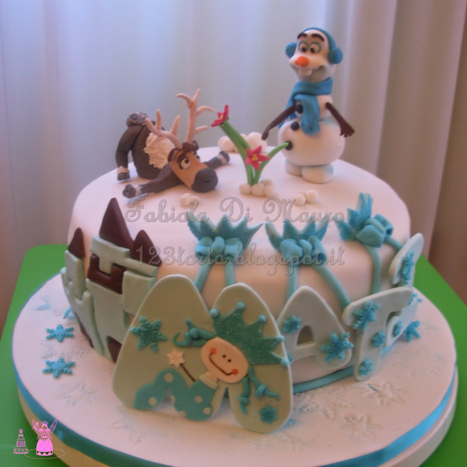 Uno due tre torta frozen olaf e sven nel regno di