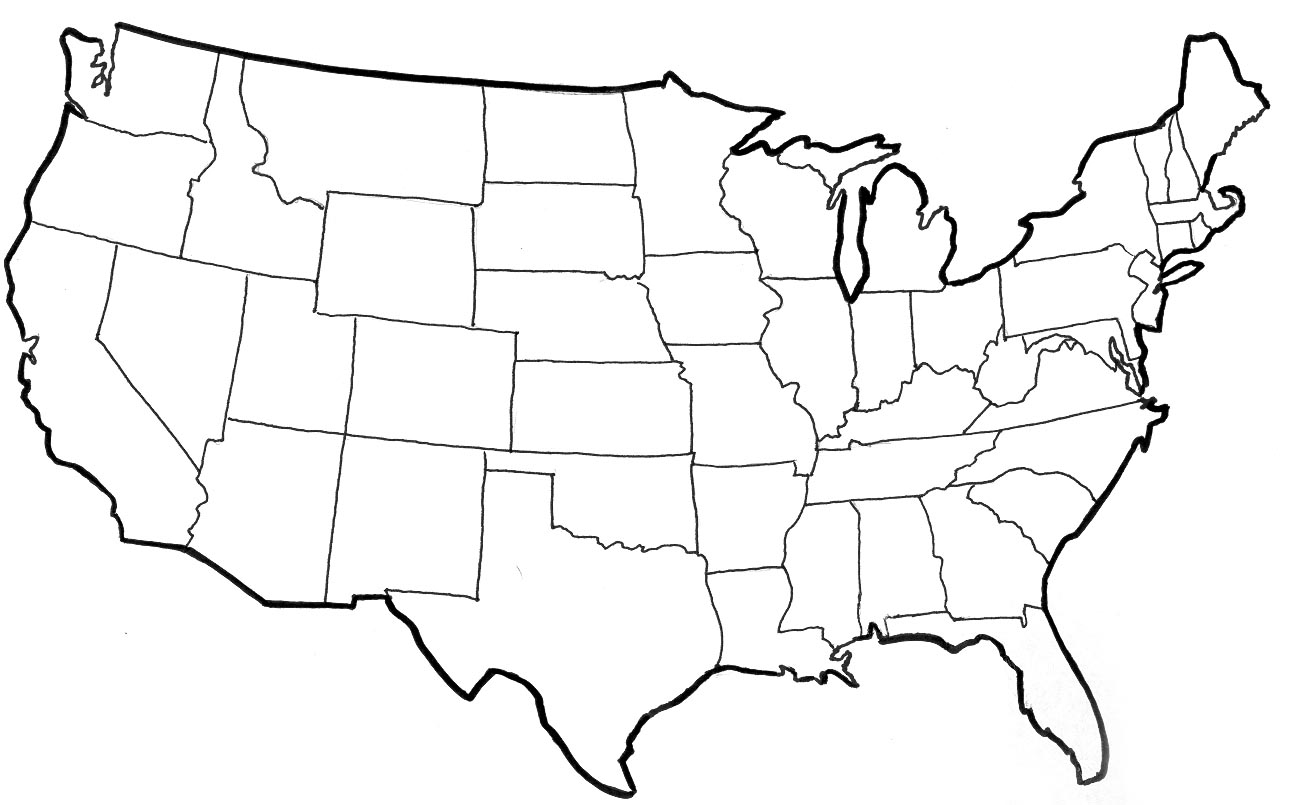 united state map outline