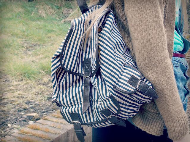 Striped Rucksack