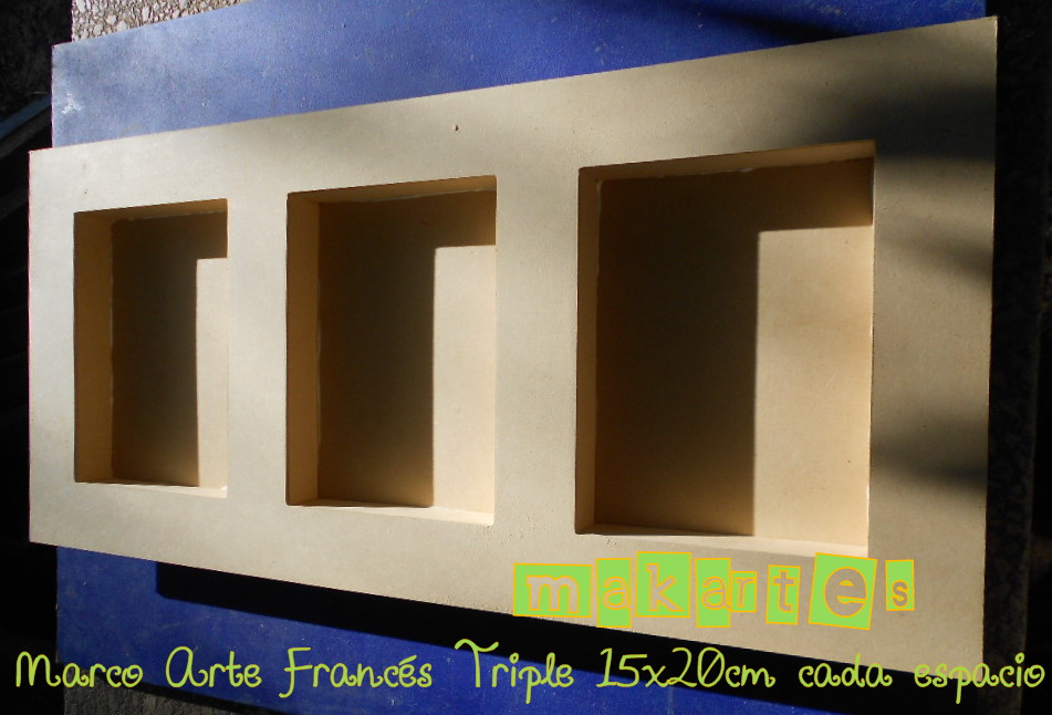 Triple marco de madera
