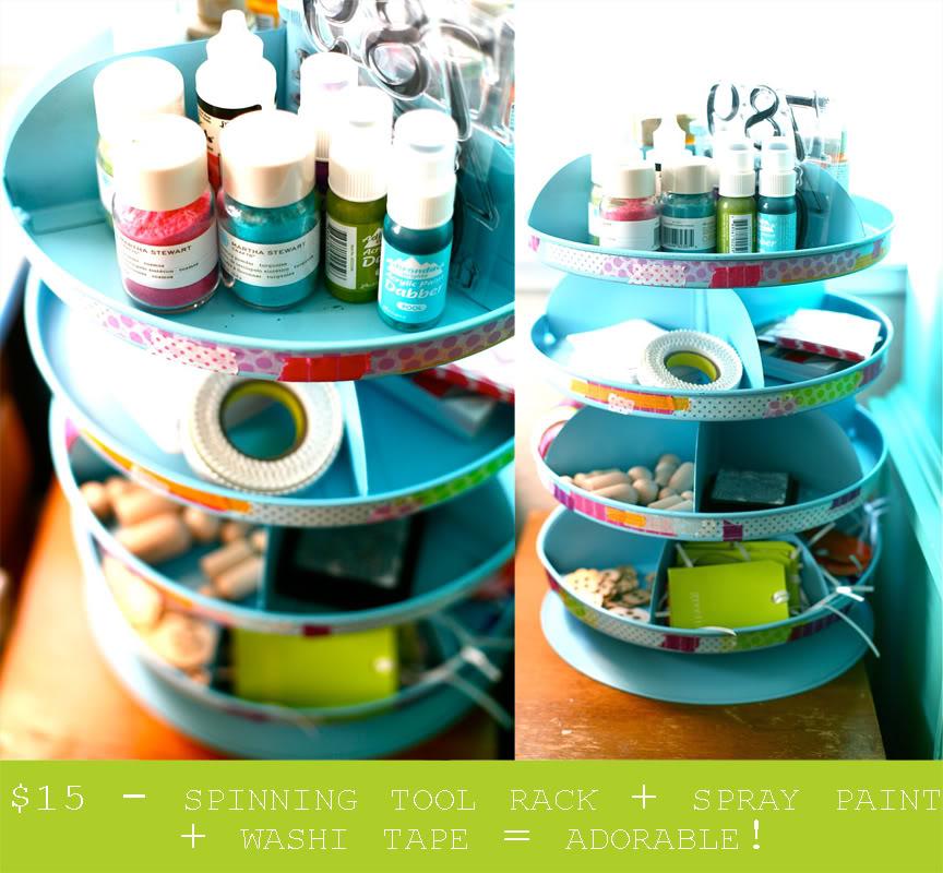 Craft+Carousel+Organizer 11 Ways to get your crafts organized ...