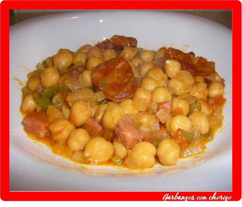 Yo lo guiso y t te lo comes garbanzos con chorizo for Cocinar garbanzos con chorizo