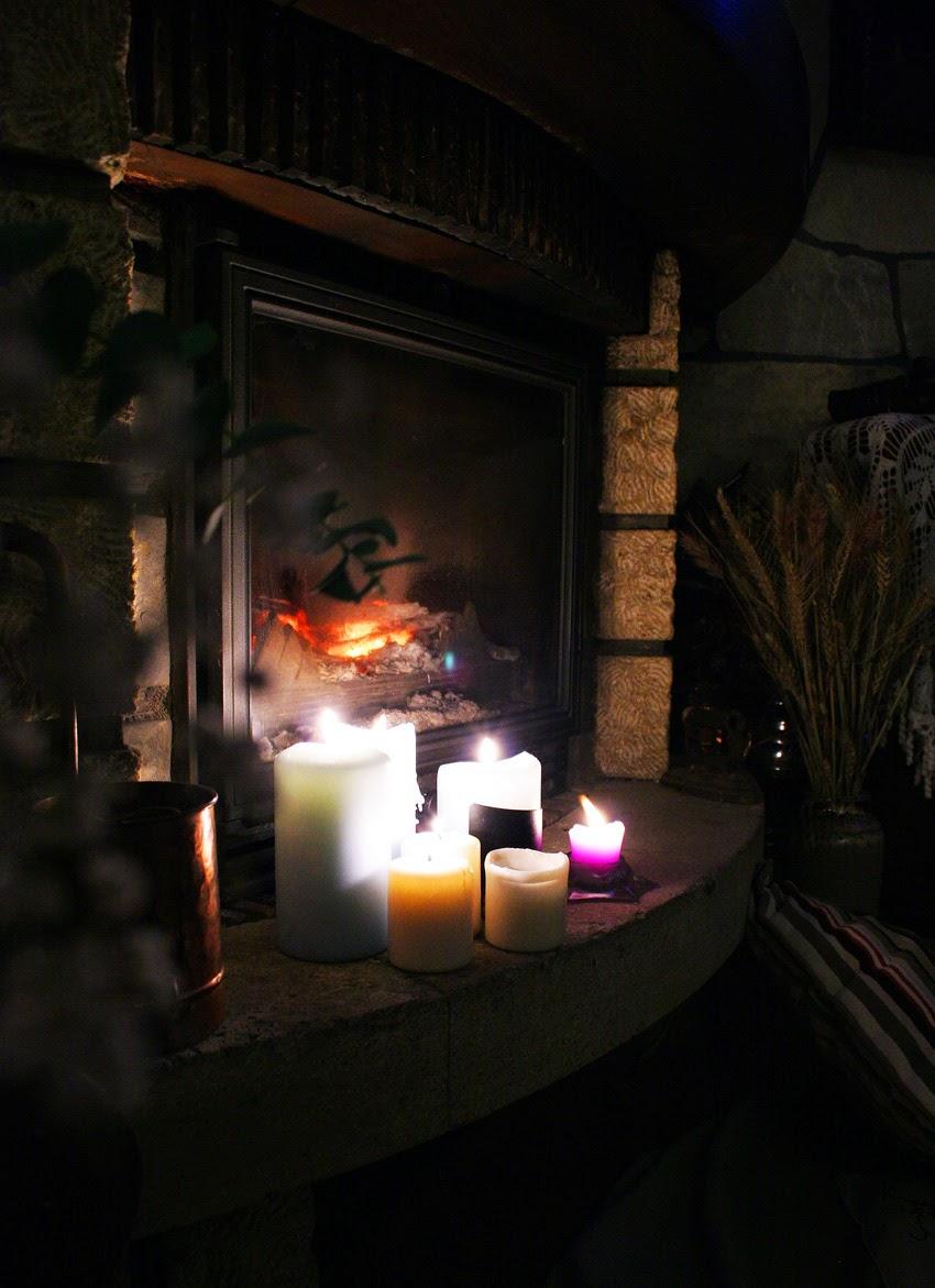 Picnic romántico junto a la chimenea3