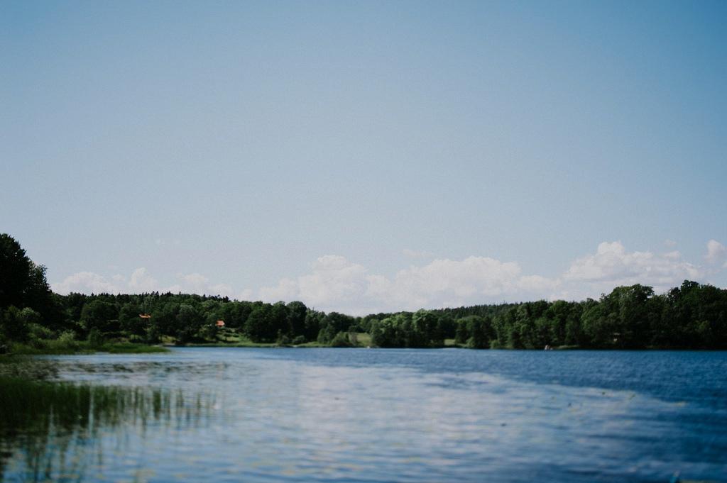 Miljöbild på sjö utanför Stockholm