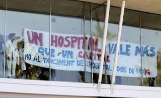 cierre del hospital Dos de Maig Barcelona protestas