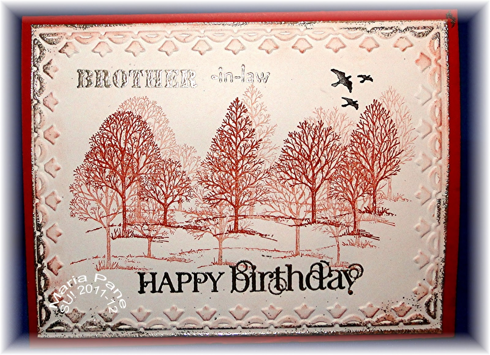 Stampin and Scrappin With Ri Ri LOVELY AS A TREE BIRTHDAY CARD – Happy Birthday Cards for My Brother