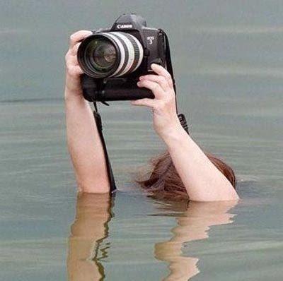 溺れている写真