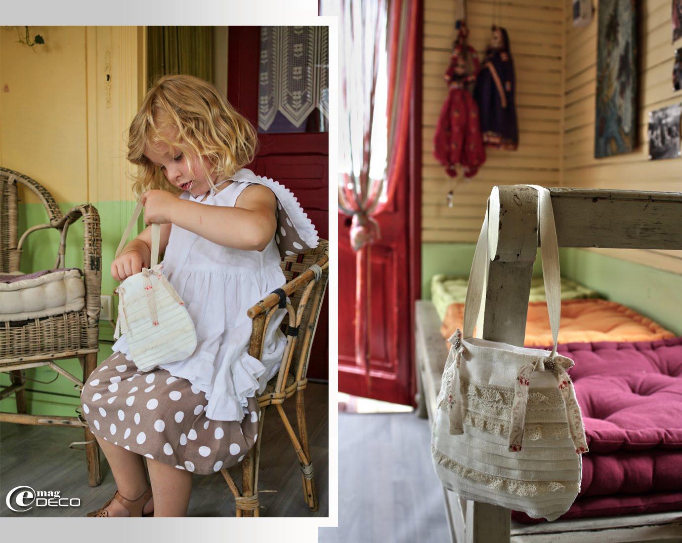 Petite aumônière, création Lili Pain d'Épices