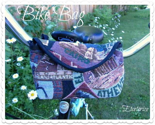 DIY Bike Bag, How to make a bike bag, DIY Bike Basket, Easy sewing project