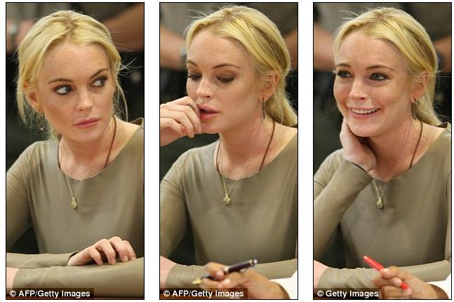 lindsay lohan court outfit. Lindsay Lohan goes hell for
