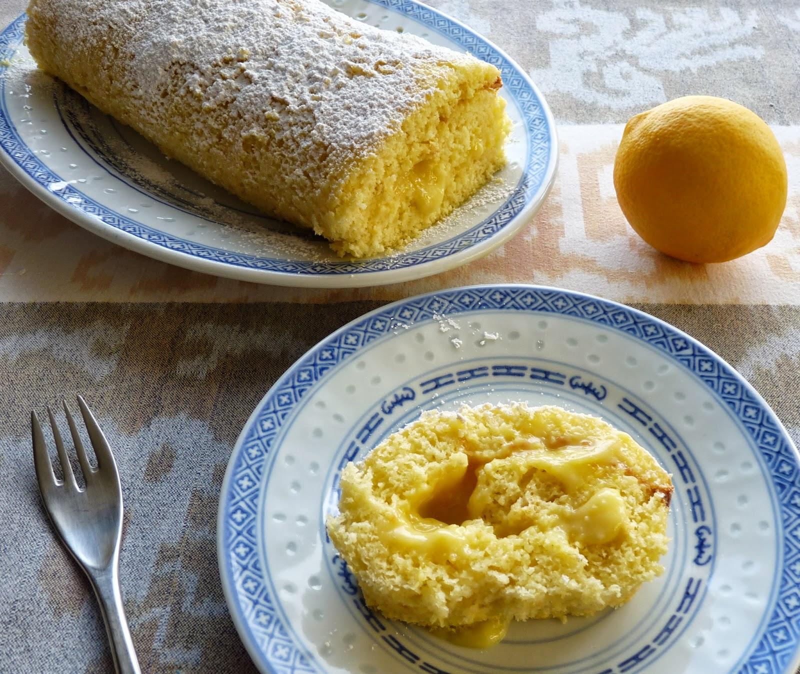 Meyer's Lemon Curd Cake Roll