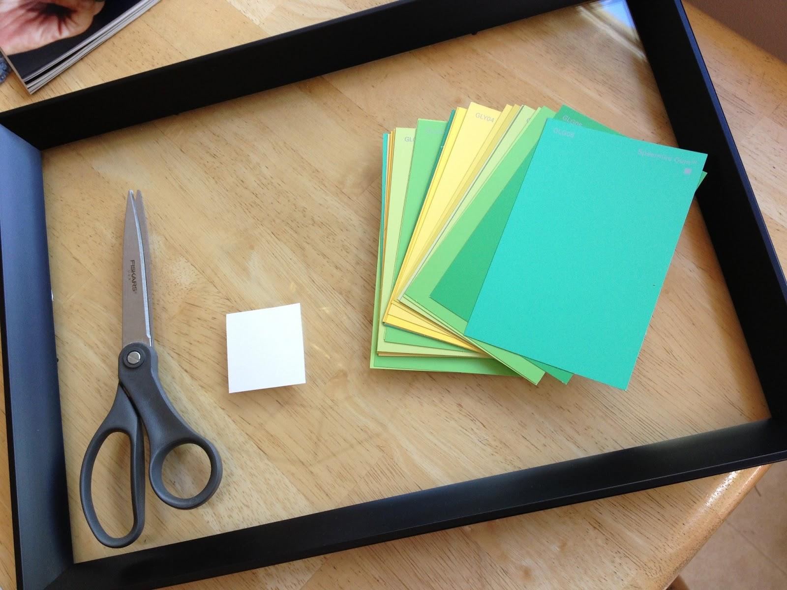 DIY Teen: Floating Paint Chip Calendar!